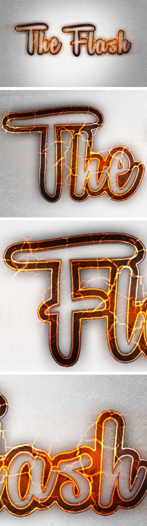 Flash Text Effect for Photoshop