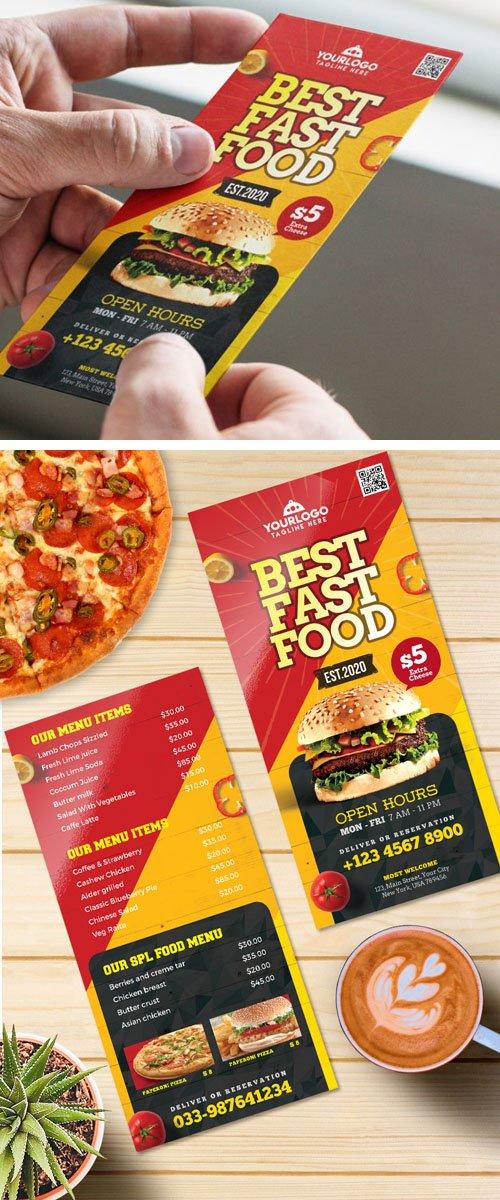 Best Fast Food Menu Card PSD Template