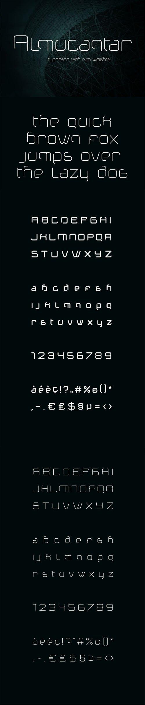 Almucantar Display Typeface - Techno Sci-fi Font Family