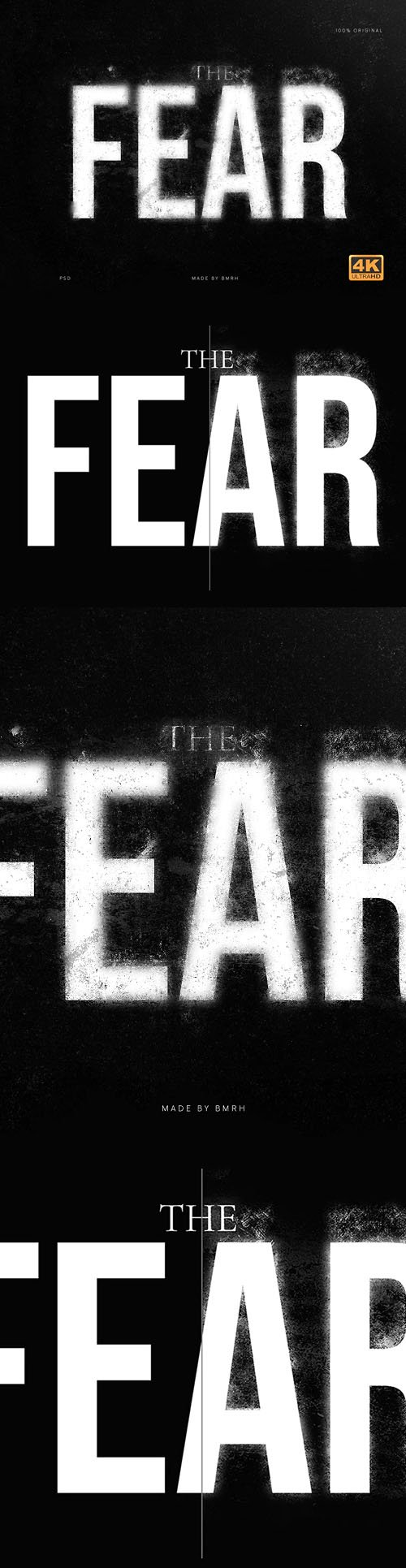 The Fear - Wonderful PSD Text Style Effect