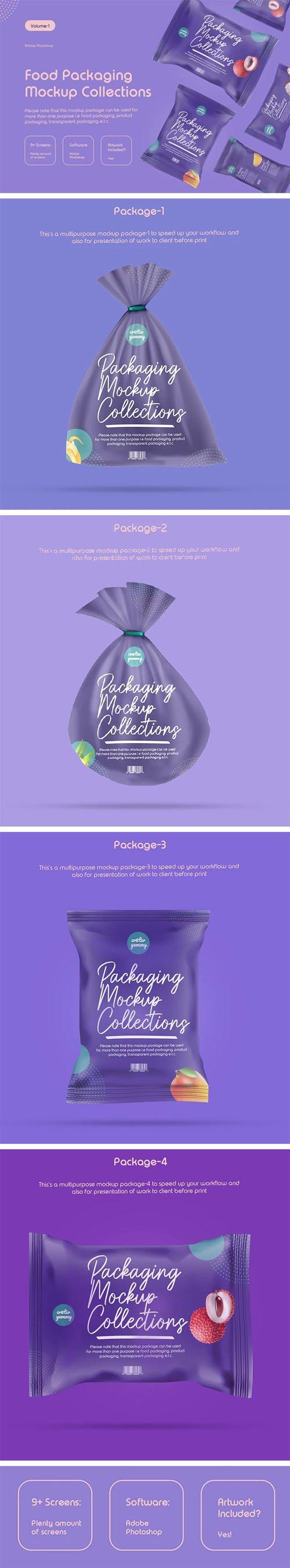10 Food Packaging PSD Mockups Templates