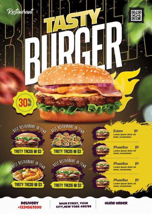 Food Promotional Flyer PSD Template