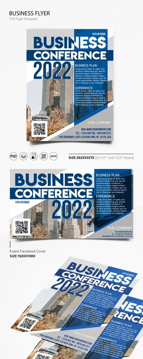 Business Conference 2022 Flyer PSD Template