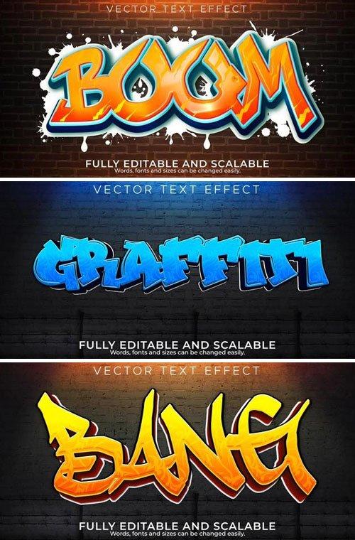 3 Graffiti Vector Text Effects