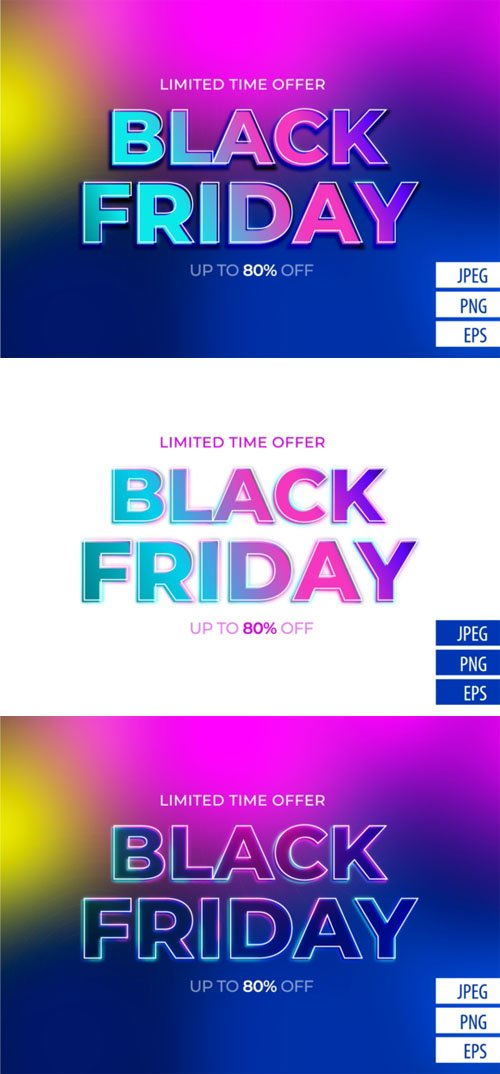 Black Friday Vector Text Effect