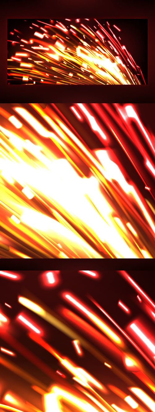 Creative Fire Sparks Effect With Dark Background Vector Design Template