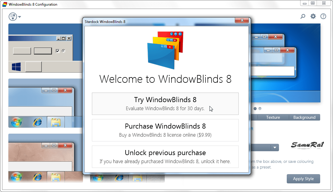 Download Stardock WindowBlinds 8.04 - SoftArchive