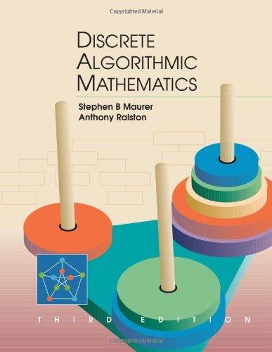 "discrete algorithm This set of discrete mathematics multiple choice s & answers (mcqs) focuses on ""algorithms"" 1 an algorithm is a _____ set of precise instructions for."