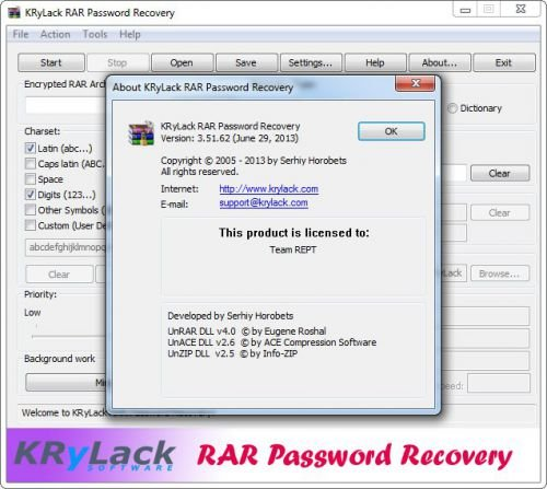 krylack rar password recovery download