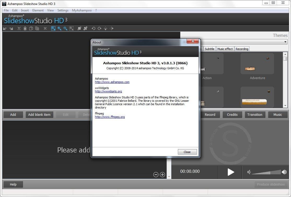 Ashampoo slideshow studio hd 1 0 3
