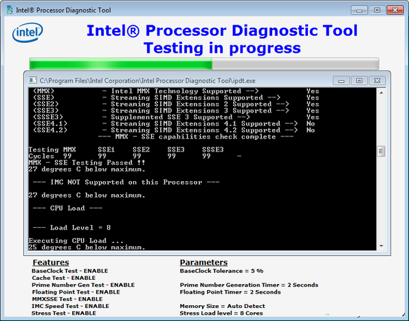 Intel Processor Diagnostic Tool 4.1.0.29