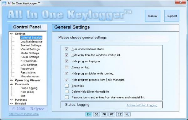 all in one keylogger relytec
