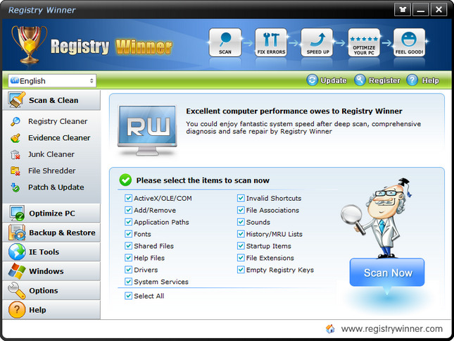 Registry Winner 7.1.3.10 Multilingual + Portable