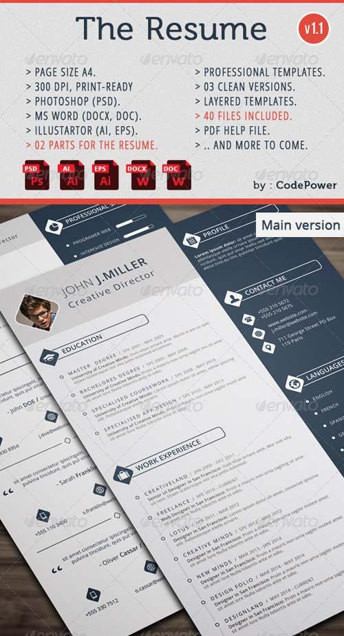 graphicriver the resume softarchive