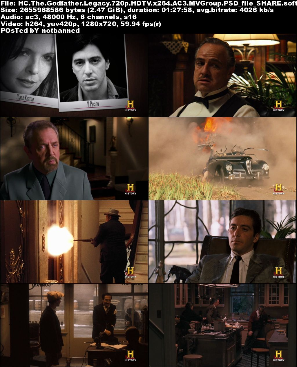 History Channel - The Godfather Legacy (2012) 720p HDTV x264-MVGroup