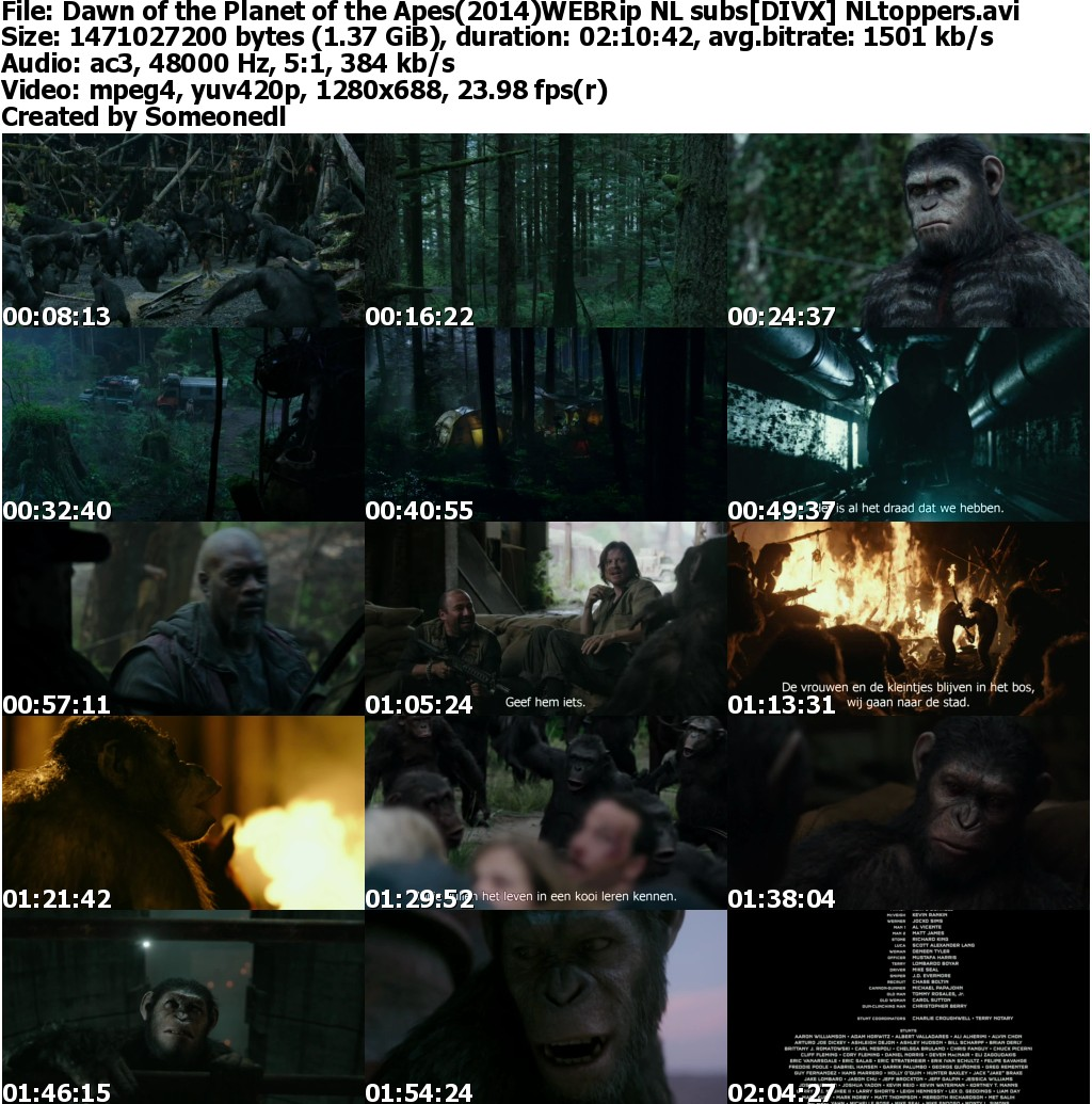 war of the planet of the apes subtitles srt file