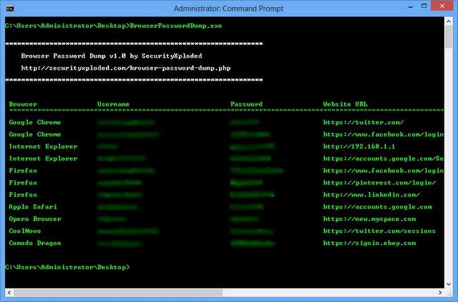 Browser Password Dump v5.5 + portable
