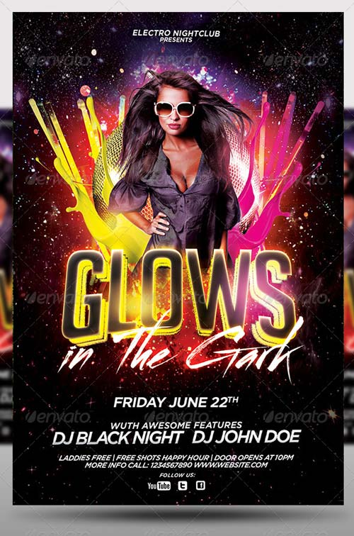 download graphicriver glows in the dark party flyer softarchive