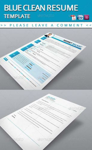 graphicriver blue resume template softarchive