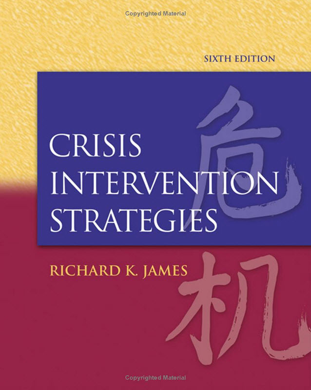 the six step model of crisis intervention Crisis intervention models the equilibrium model - people in crisis are in a state of psychological or emotional disequilibrium in which their usual coping mechs and problem-solving methods fail to meet their needsthis model is most appropriate for early intervention when the person is out of control, disoriented, and unable to make .